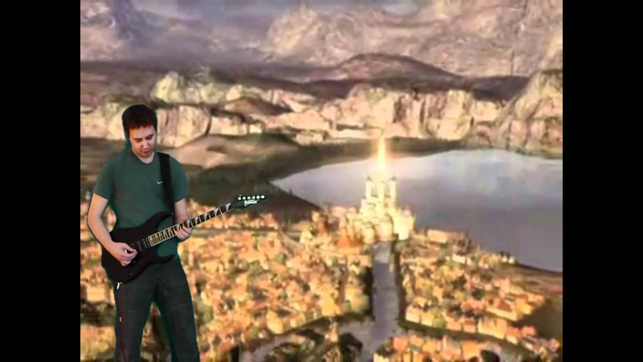 final fantasy ix world map theme crossing those hills synthguitar cover youtube