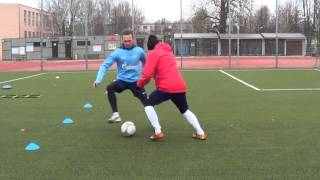 Individual football training • Coordination, Agility, Speed, Balance, Defense drills (HD)