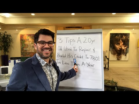 📚3 Tips A 20 Yr Old Used To Repair & Build His Credit To 780! 💵 tailopez.com/credithacks