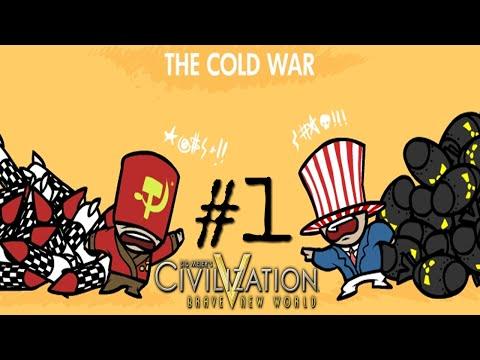 Lets Play Civ 5: Cold War Part 1-(I Concur With Oranges)
