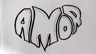 Dibujo de amor para facebook