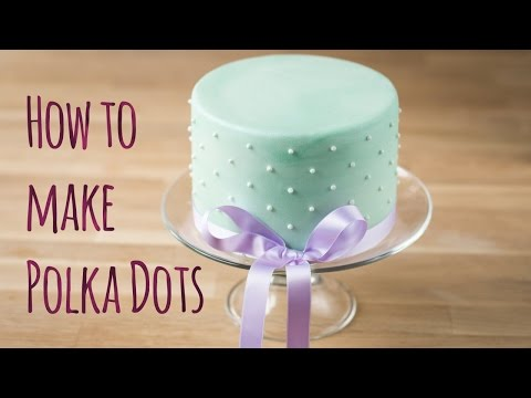 How To Make Swiss Dots Using The Press Ice Polka - By Minh Cakes