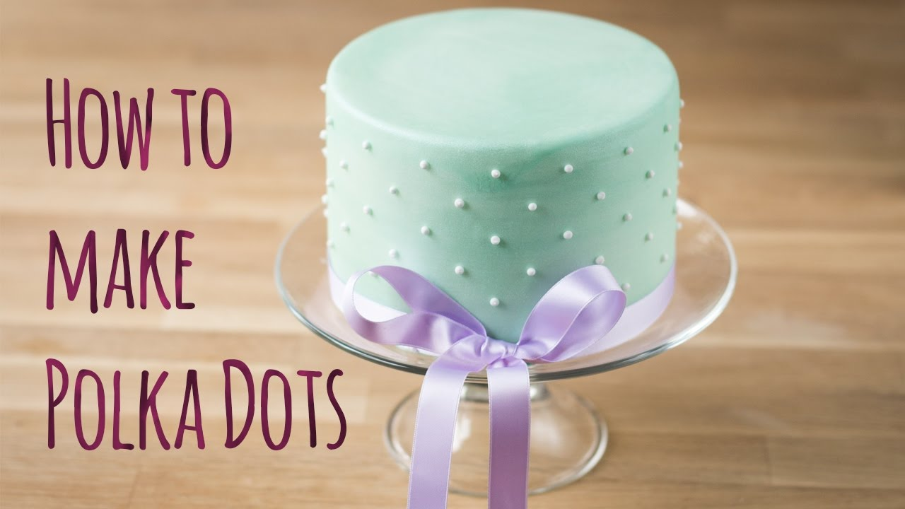 How To Make Swiss Dots On Cake