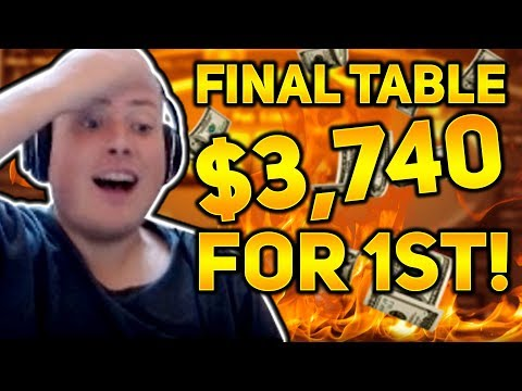 $3,740 FOR THE WIN!! HOT $44 FINAL TABLE  PokerStaples Stream Highlights