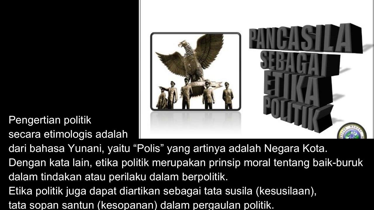 Pancasila Sebagai Etika Politik Youtube