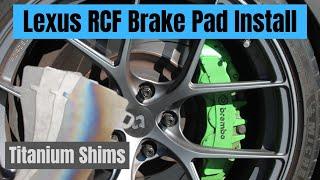 Measuring LEXUS RCF Titanium Brake Shim Heat Conductivity To Help Reduce Brake Fade