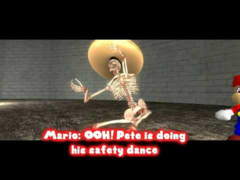 PETE THE SKELETON SAVES MARIO AND HIS FRIEND