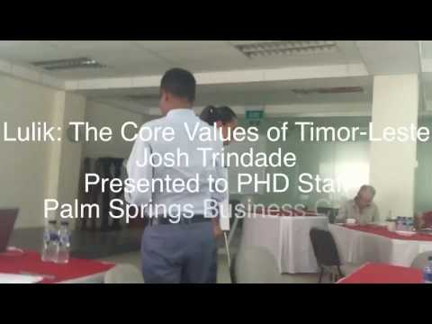 Lulik: The Core Values of Timor - Leste (Josh Trindade)