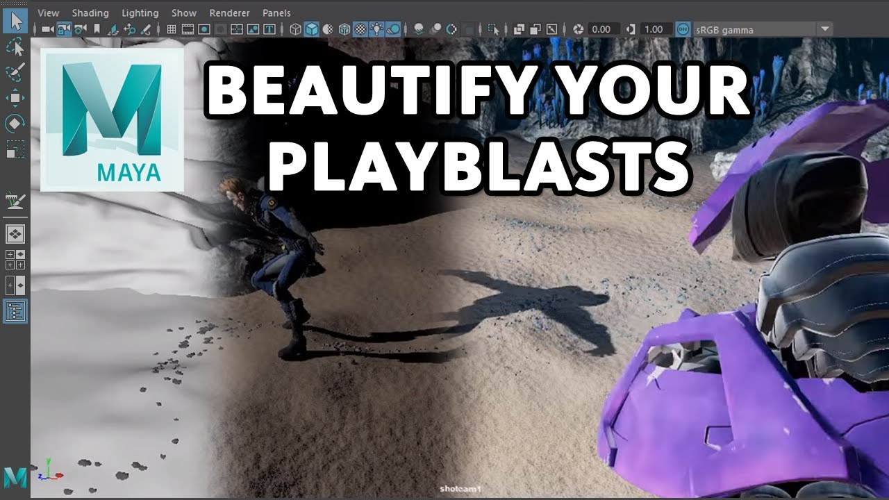 Maya Quick Tip: Achieving great lighting for Playblasts or
