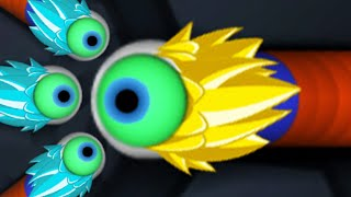 Slither.io Goku Super Power Invasion Slitherio Skin Mod Epic Gameplay