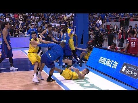 Gilas - Australia Brawl | FIBA World Cup 2019 Asian Qualifiers
