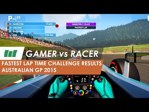 Gamer vs Racer - Beat the F1 Driver Results | Australian GP 2015