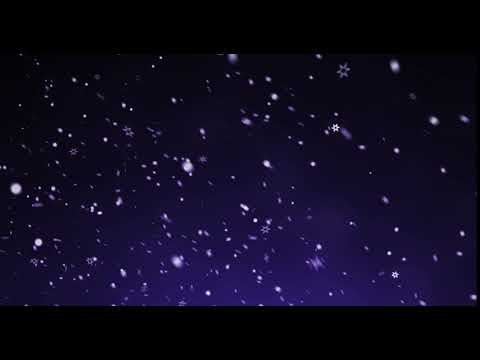 Background falling snowflakes seamless loop in the night