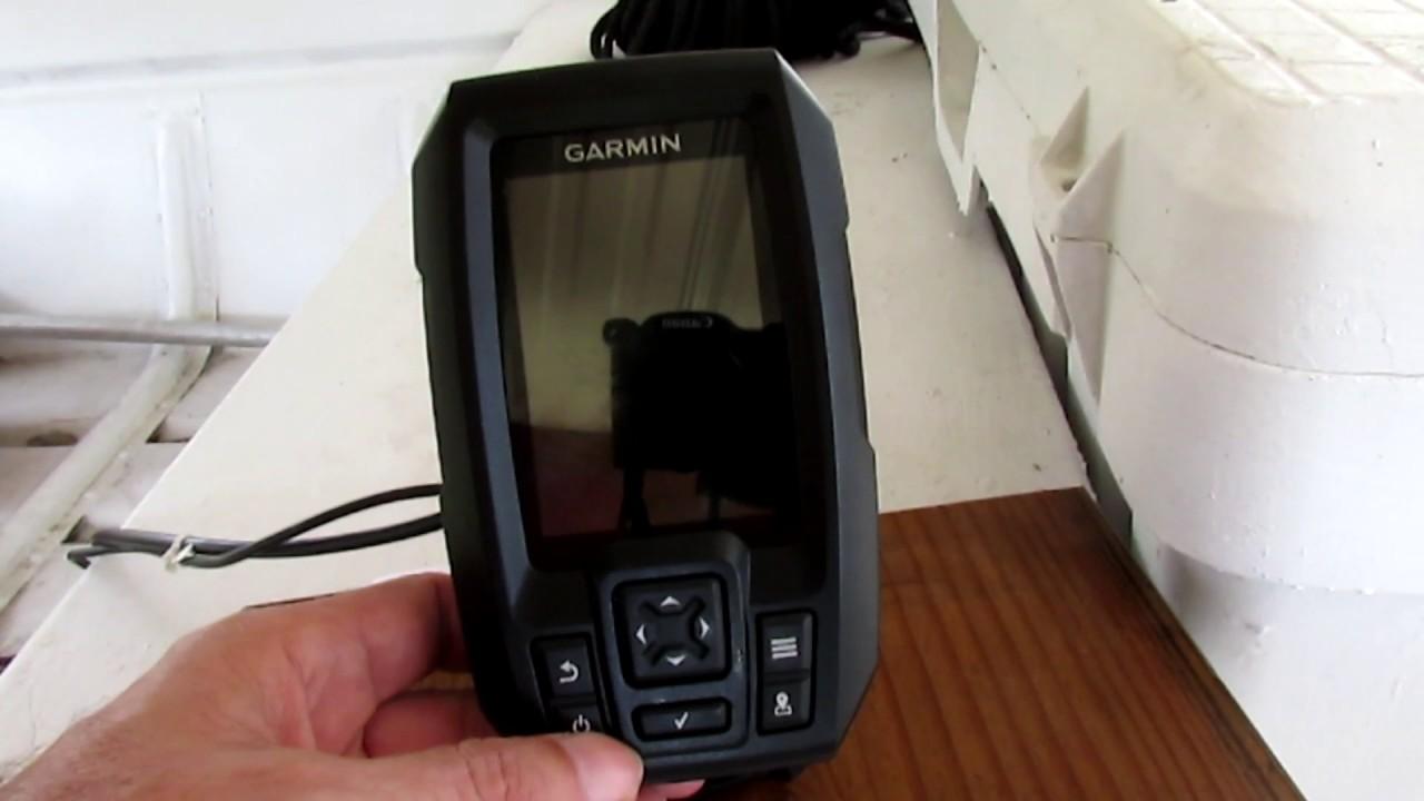 Garmin Striker4 Fish Finder Operation