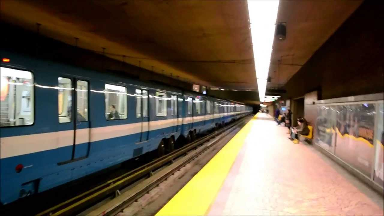montreal metro trains action pie ix station youtube. Black Bedroom Furniture Sets. Home Design Ideas