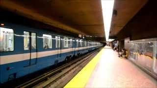 Montreal Metro Trains Action -  Pie-ix Station