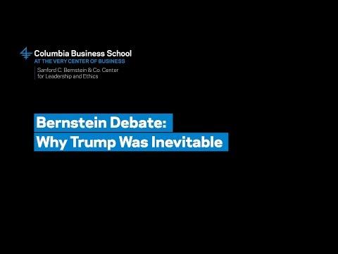 Bernstein Debate: Why Trump Was Inevitable – Professor Howard Rosenthal