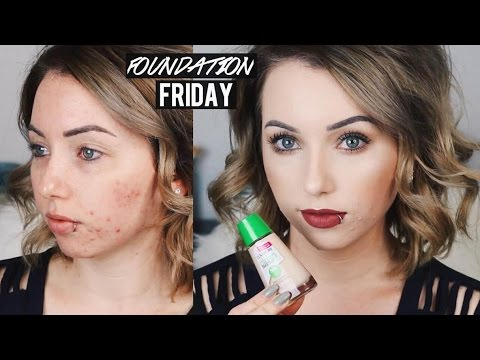 Foundation Friday! NEW COVERGIRL CLEAN SENSITIVE FOUNDATION First Impression Review | Acne/Pale Skin