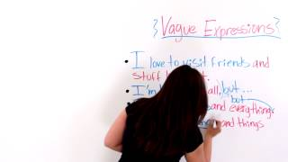 Vague Expressions In English
