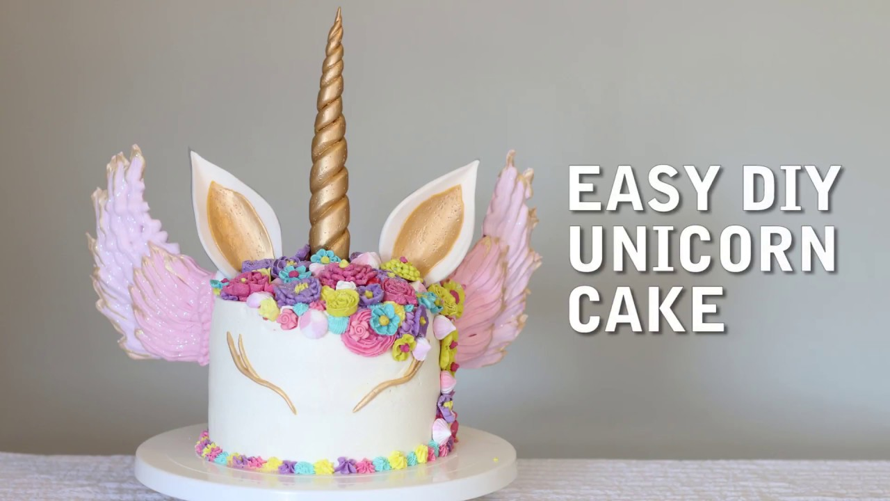 Easy DIY Unicorn Cake