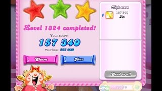 Candy Crush Saga Level 1324   ★★★   NO BOOSTER