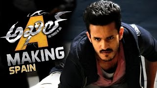 akhil akkineni movie making video spain schedule