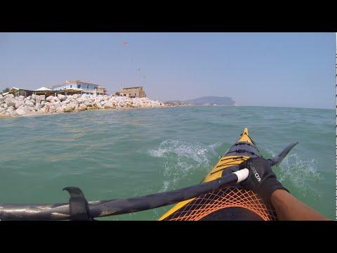 Luca in kayak dal Taunus al Malibu e Mia - 13.8.2015