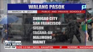 Mga paaralan na #WalangPasok sa Surigao Del Norte