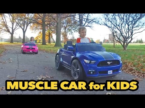 Muscle Car For Kids: Power Wheels Smart Drive Mustang