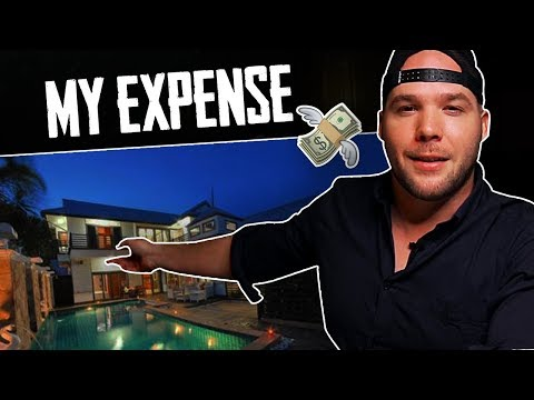 "My PERSONAL Expenses Breakdown — Living in Thailand ""Here in My Villa.."""