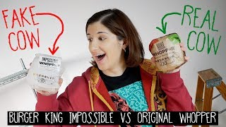 Burger King Impossible Whopper (FAKE) Vs REAL Whopper!!! | ST. LOUIS EXCLUSIVE
