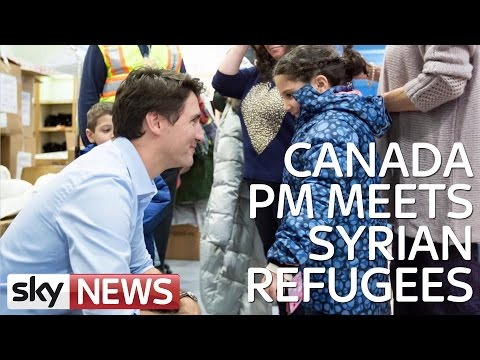 Canada's Prime Minister Welcomes Syrian Refugees