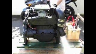 Test du moteur de mon bateau, le Nausinoos - Mercruiser 3L 4cyl 130cv (8 mai 2015)