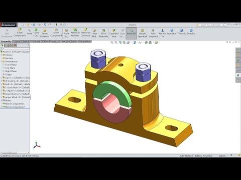 Solidworks tutorial | Plummer Block