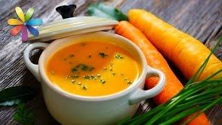 Имбирно-морковный крем-суп, салат с имбирем и имбирный лимонад (повтор)