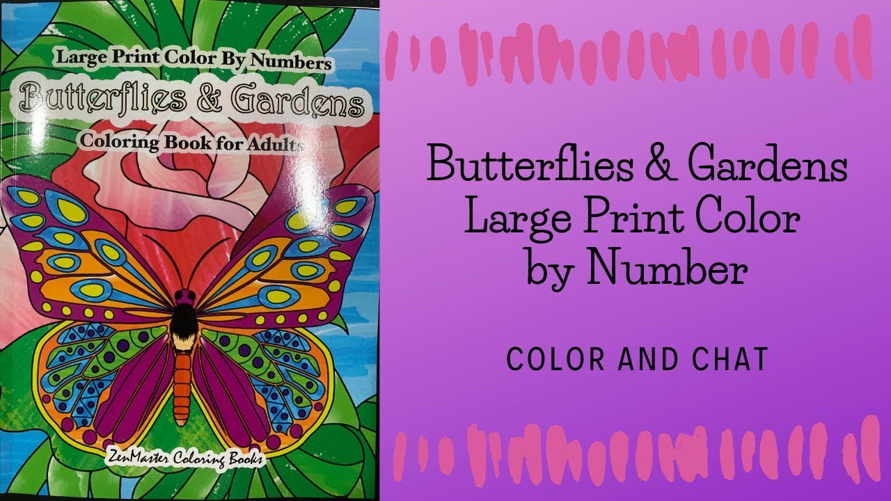 Springtime Designs Large Print Adult Coloring Book Color By Number