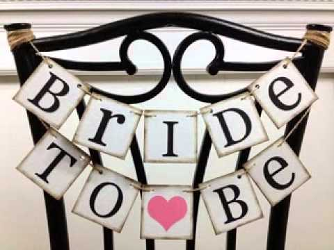 bridal shower banner ideas