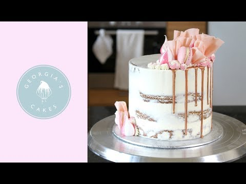 Naked Cake With A Rose Gold Drip Tutorial | Georgia's Cakes