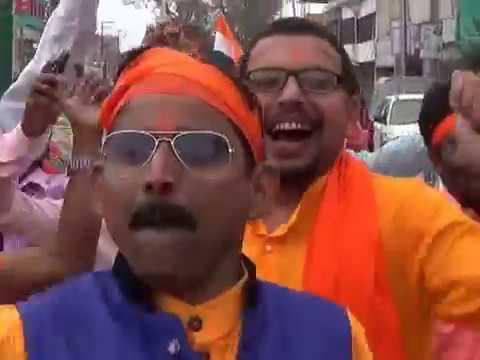 রায়গঞ্জে রামনবমীর শোভাযাত্রা। Raiganj Ramnabami rally.