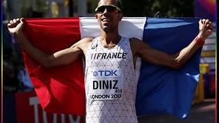 world championship athletics 2017 london man 50kmwalk 世界陸上2017ロンドン「男子 50km競歩」優勝:Y・ディニズ(フランス) ラシツケネ 検索動画 17