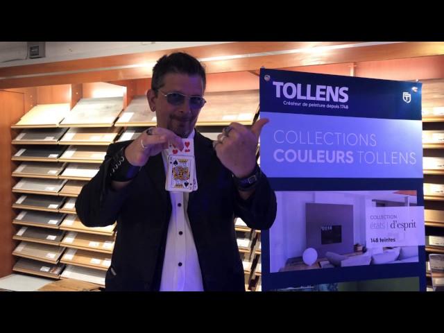 Arthur chez les peintures Tollens à Bordeaux