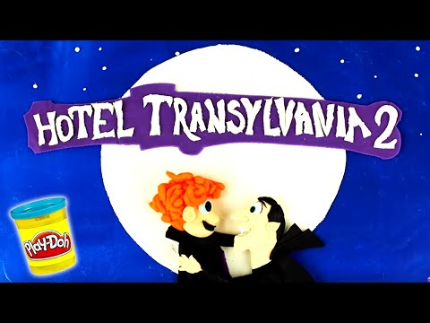 ♥ Play Doh Hotel Transylvania 2 STOP MOTION Clay Animation Plasticine Creations and Toys Surprise