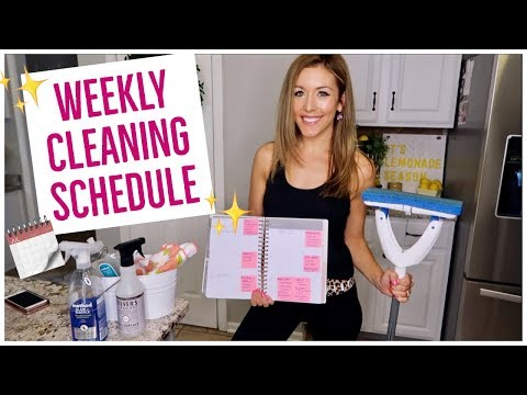 MY WEEKLY CLEANING ROUTINE 🗓 | CLEAN WITH ME - ALL WEEK! ✨ | Brianna K + HayleyPaige