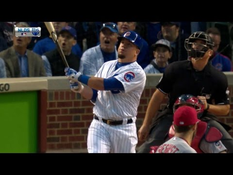 Kyle Schwarber's landed on the video board. Anthony Rizzo's hit the Budweiser sign. So who had the better home run?