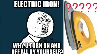 How an electrical iron works and what's inside it?