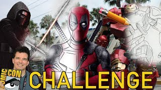 MARVEL, STAR WARS, & DC cosplay 15 second Comic Con DRAWING Challenge