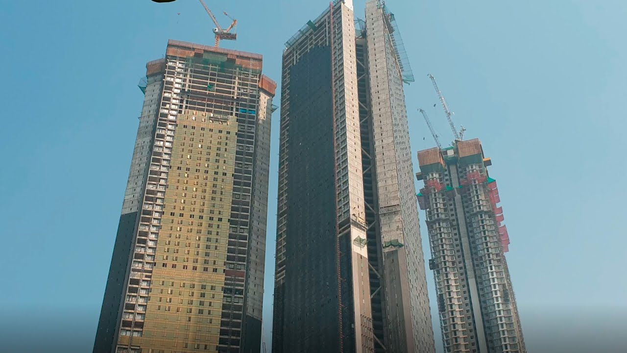 "MUMBAI's TALLEST BUILDINGS ""Skyscrapers"", India in 4k ultra HD"