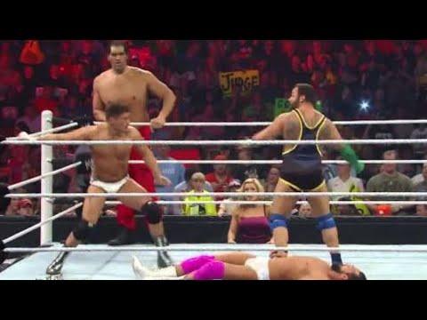 The Great Khali & Santino Marella vs. Team Rhodes Scholars: Raw, April 15, 2013