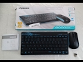 Rapoo X220 2.4Ghz Slim Wireless Keyboard and Optical Mouse Combo with USB Receiver