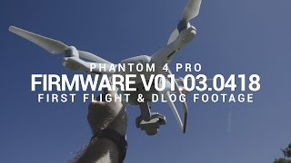 First Flight with V01.03.0418 and D-LOG ISO 500 Footage on DJI Phantom 4 Professional